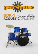 BDK-1 Full Size Starter Drum Kit by Gear4music, Blue
