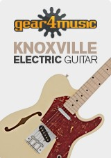 Knoxville Semi-Hollow Electric Guitar by Gear4music, Sunburst