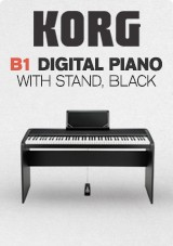 Korg B1 Digital Piano with Stand, Black