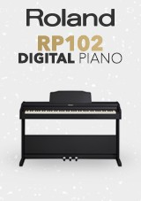 Roland RP 102 Digital Piano, Contemporary Black
